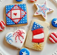 Independence Day Cookies!!, just pictures for ideas . . .