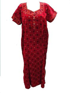Cotton Long Maxi Boho Gypsy Women's Nighty Nightgown