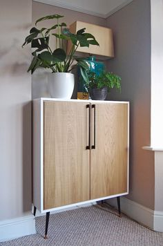 IKEA HACK: METOD kitchen unit turned into midcentury-inspired cabinet