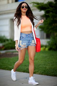 @lovebylynn from Love By Lynn in the Summer Sky Cutoff Shorts || Get the shorts: http://nastygal.com/clothes-bottoms-shorts/summer-sky-cutoff-shorts?utm_source=pinterest&utm_medium=smm&utm_term=ngdib&utm_content=nasty_gals_do_it_better&utm_campaign=pinterest_nastygal