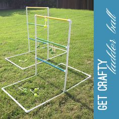 diy: ladder ball yard game, we need this for parties now that we have a yard!