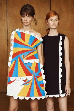 Fashion designer Victoria Beckham has unveiled herVictoria Victoria Beckham pre-spring 2016 collection - and it's an explosion of colour and fun