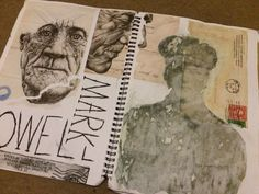 Mark Powell artist research page. – A Level Art Sketchbook - Water A Level Art Sketchbook, Sketchbook Layout, Textiles Sketchbook, Sketchbook Inspiration, Sketchbook Ideas, Fashion Sketchbook, Artist Research Page, Kunst Portfolio, Photography Sketchbook