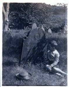Old burying ground - 1892. Check out the headstone. The style of the imagery is key to dating the stone.