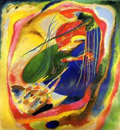 Wassily Kandinsky painting with three spots 1914