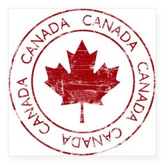 CafePress Vintage Canada Sticker Square Bumper Sticker Car Decal, (Small) or (Large) Printable Stickers, Cute Stickers, Bumper Stickers, Car Decals, Compass Drawing, Canadian Things, Canada Day, Scrap, Custom Stamps