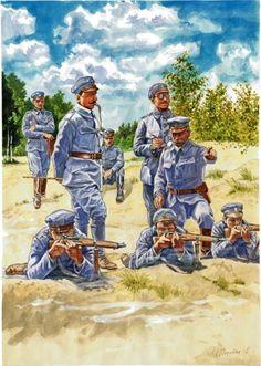 Ćwiczenia członków Związku Strzeleckiego, jednej z kilku polskich organizacji paramilitarnych w Galicji