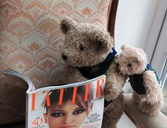 Binky Bear and the Little Binkies read all about themselves in Tatler in early 2013.