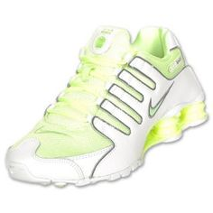 6f6d0652db3 Womens Nike Shox NZ White Liquid Lime Cool Grey Nike Joggers