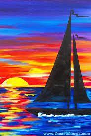 Résultats de recherche d'images pour «easy acrylic painting ideas for beginners on canvas»