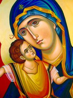 Theotokos Religious Images, Religious Icons, Religious Art, Byzantine Icons, Byzantine Art, Divine Mother, Mother Mary, Holly Pictures, Greek Icons