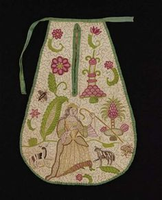 British early 18th century pocket from the MFA