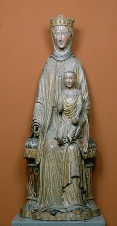 Gothic Sculpture | Museum of Fine Arts, Boston. LICENSE THIS IMAGE Virgin and Child 1210–25  Unidentified artist, French, 14th century French