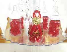 12 RED And GOLD Prince Baby Shower Party Favors / Boys Red And Gold Prince  Baby