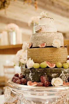 my favorite kind of cheese cake ... authentic  cheese wheels stacked!