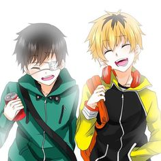 Hide and Kaneki this is so cute