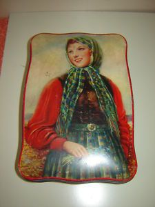 Thorne's toffee tin, Scottish girl with bluebells