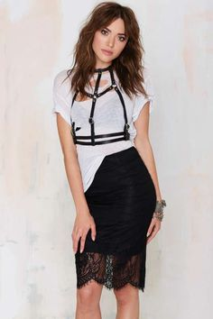 Roselia Lace Pencil Skirt