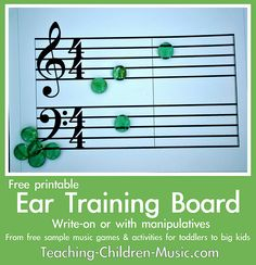 Free ear training board from Teaching Children Music