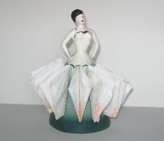 Vintage Napkin Holder China Lady Napkin Holder