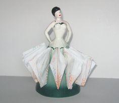 Vintage Napkin Holder China Lady Napkin Holder