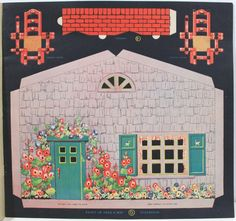 Peek A Boo Playhouse by Eleanore Barte 1933 Punch Out Paper Doll House | eBay