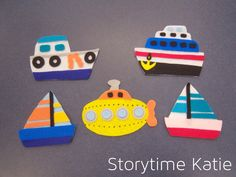 Flannel Friday: Five Little Boats | storytime katie