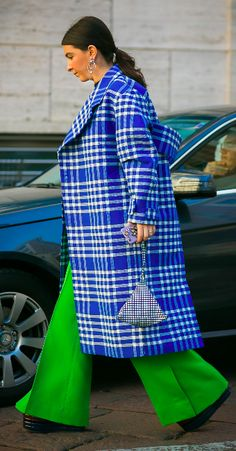 FW 2017 Street Style: Lara Djandji. Image: Style Du Monde. Jacquemus coat.