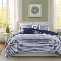 Intelligent Design Clarissa Blue 5-piece Comforter Set - Free Shipping Today - Overstock.com - 18993575 - Mobile