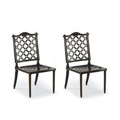Glen Isle Set Of Two Side Chairs In Midnight Gold - Frontgate, Patio Furniture