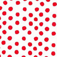 Sprout Design Polka Dot Red on White - Kelani