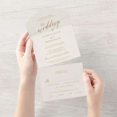 Elegant Gold Calligraphy Ivory Wedding Seal and Send Invite. Click to customize with your personalized details today. Unique Wedding Invitations, Wedding Rsvp, Ivory Wedding, Budget Wedding, Wedding Sets, Gold Calligraphy, Wedding Calligraphy, Unique Wedding Suites