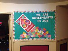 Valentine's bulletin board