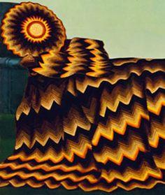 ☮ 💁🏼 ☮ Ripple Afegão e Travesseiro - Padrão Crochetar -  /  ☮ 💁🏼 ☮ Ripple Afghan And Pillow - Crochet Pattern -