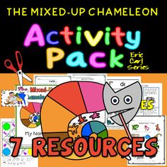 """Here is an activity pack to supplement your """"Mixed-Up Chameleon"""" reading lesson. It includes six Cut & Paste sequential Word wall - ten Adjectives """"I Wish"""" Writing Animals Read & 10 Animal Riddles Animal Sounds. Animal Riddles, Mixed Up Chameleon, Adjective Worksheet, Reading Lessons, Cut And Paste, Writing Activities, Teacher Pay Teachers, Mini Books, Teacher Newsletter"""