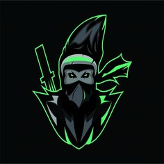Assasin Logo Mascot Gráfico vectorial y imagen PNG Team Logo Design, Logo Desing, Logo Esport, Art Logo, Logo Psd, Adobe Illustrator, Logo Free, Samurai, Ninja Logo