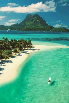 Pearl beach, Bora Bora island, French Polynesia.