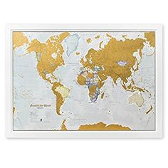 Amazon.com : Scratch the World® - scratch off your map of the world travel poster! - detailed cartography - Large Size 33¼ x 23½ inches : Office Products