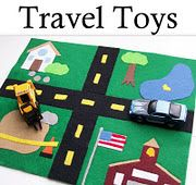 This looks so fun and easy to do! Felt travel toys. You could build your own city or make a doll house.
