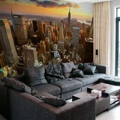 for walls 3 d Custom 3d mural wallpaper City evening landscape background sofa bedroom TV Tower in New York 3d photo wallpaper