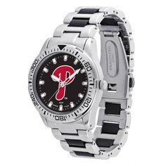 Game Time MLB Men's Philadelphia Phillies Heavy Hitter Watch, Silver