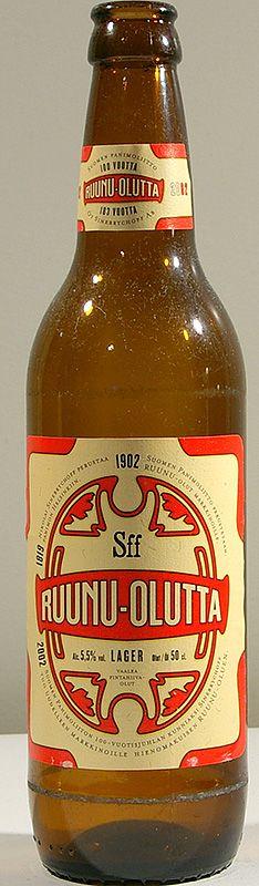 Ruunu-olutta bottle by Sinebrychoff