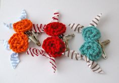 cute crocheted clips