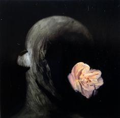 Skull with flower - Phil Hale Comic Art
