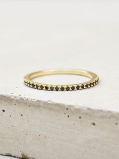 Eternity Ring - Gold with Black – The Faint Hearted