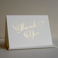 Foil Thank You Card
