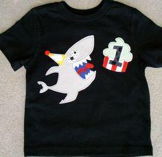Birthday Bites Shark Shirt with Age