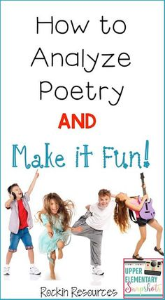 This post is loaded with ideas to help your class learn to analyze poetry! This way of analyzing poetry is perfect for upper elementary students and they will have fun learning! Teaching Poetry, Teaching Reading, Fun Learning, Teaching Ideas, Teaching Resources, Teaching Literature, Reading Art, Reading Skills, Poetry Unit