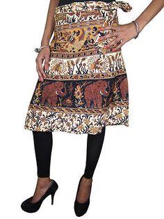 Indian Wrap Skirt Elephants Print Wrap Around Womens Cotton Beach Skirts Boho Gypsy, Bohemian Style, Bohemian Fashion, Beach Wrap Skirt, Skirt Fashion, Fashion Outfits, Gypsy Skirt, Elephant Print, Print Wrap