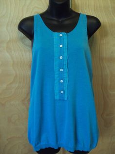 NEW $730 MALO Blue Sleeveless Sweater Tank Top Sz 10 (46) Made in Italy #Malo #TankCami #EveningOccasion